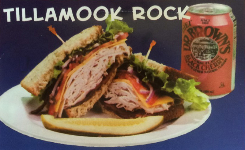 Tillamook Rock Sandwich at Tsunami Sandich Company